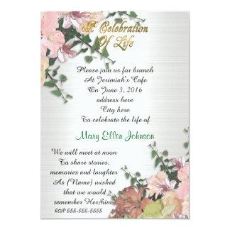 Celebração do primavera do convite da vida floral
