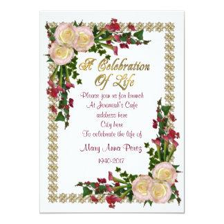 Celebração do quadro floral do convite da vida