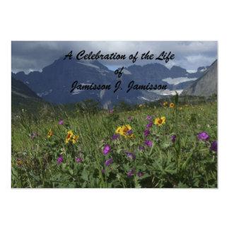 Celebração do Wildflower da montanha do convite da