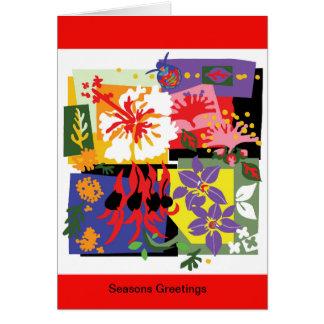 Celebração floral - cartões australianos do Xmas