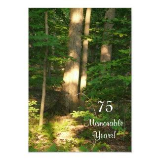 Celebração-Homem memorável de 75 anos/aniversário Convite 12.7 X 17.78cm