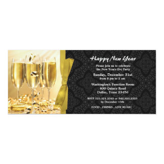 Celebração Inviation liso da véspera de Ano Novo Convite 10.16 X 23.49cm