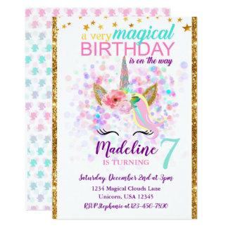 Celebração mágica do convite do aniversário do