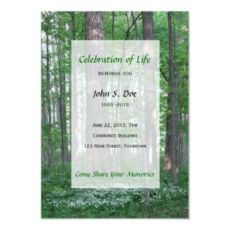 Celebração memorável do convite da floresta da