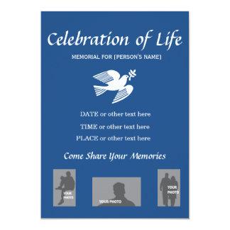 Celebração memorável do convite da pomba da paz da