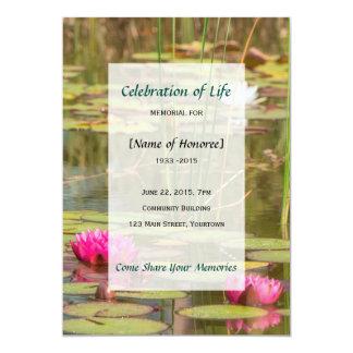 Celebração memorável do convite do lírio de água