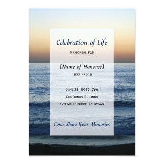 Celebração memorável do oceano do convite da vida
