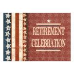 Celebração militar patriótica da aposentadoria do
