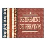 Celebração militar patriótica da aposentadoria do convite personalizado