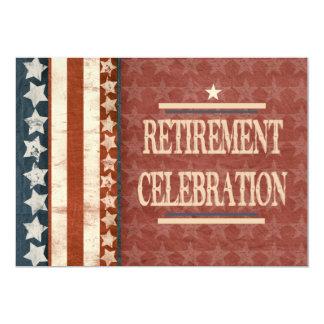 Celebração militar patriótica da aposentadoria do convite 12.7 x 17.78cm