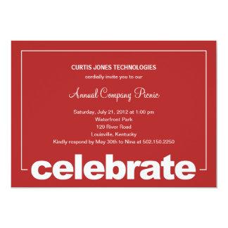 Celebração moderna incorporada/partido Invita do Convites Personalizados