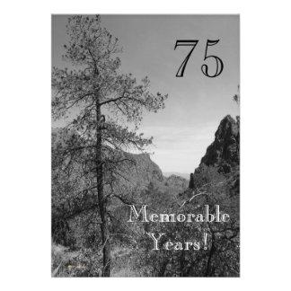 Celebração-Natureza memorável de 75 anos aniversár