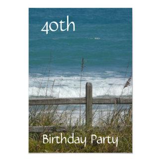 Celebração-Oceano/homem do aniversário de 40 anos Convite 12.7 X 17.78cm
