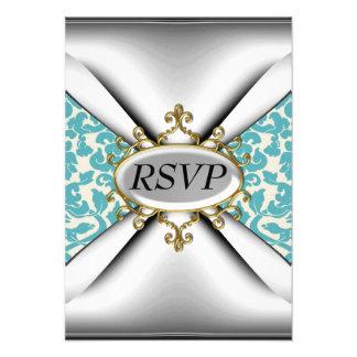 Celebração velha RSVP da festa de aniversário da c Convite Personalizado