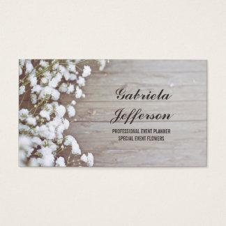 Celeiro do país da respiração do bebê rústico cartão de visitas