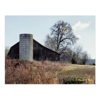 Celeiro e silo - cartão