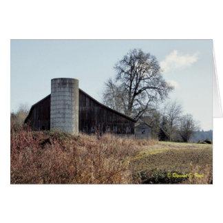 Celeiro e silo - cartão & envelope