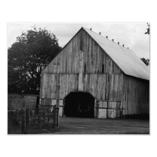 Celeiro em preto e branco impressão fotográficas