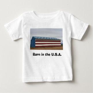 Celeiro na camisa do bebê dos EUA