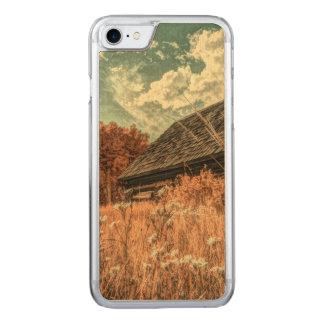 celeiro velho da fazenda do wildflower do campo do capa iPhone 8/ 7 carved