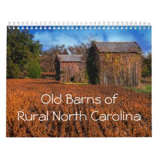 Celeiros velhos do calendário rural de North