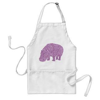 Celtic Knotwork hippo apron. Avental