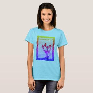 Céltico alba alba de Saltire do cardo de Gu Bràth Camiseta
