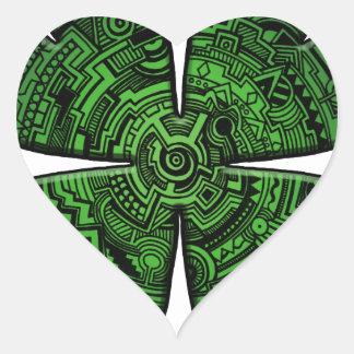 Céltico do trevo/trevo da folha do dia quatro de adesivo coração