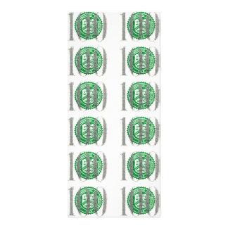 Cem notas de dólar 10.16 x 22.86cm panfleto