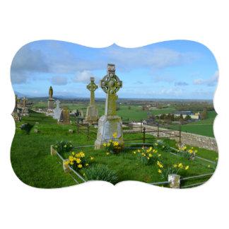 Cemitério irlandês convite 12.7 x 17.78cm