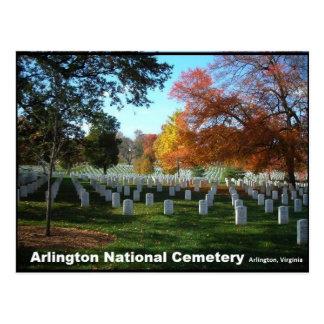 Cemitério nacional de Arlington no cartão do