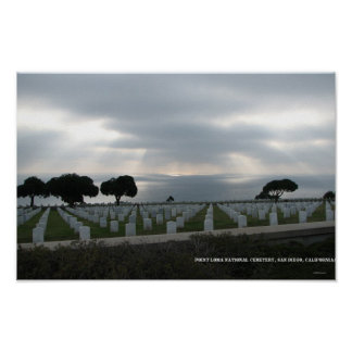 Cemitério nacional do Point Loma Poster