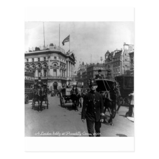 Cena 1901 da rua do circo de Londres Piccadilly do Cartão Postal
