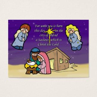Cena bonito da natividade cartão de visitas