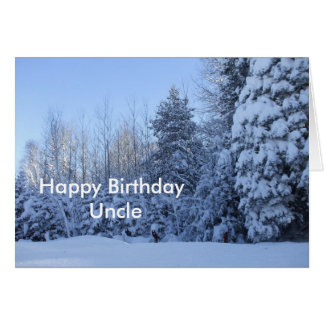 Cena da árvore da manhã de Tio-inverno do feliz Cartão Comemorativo