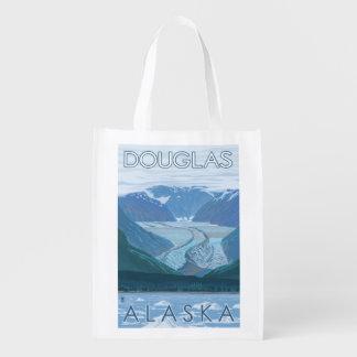 Cena da geleira - Douglas, Alaska Sacola Reusável