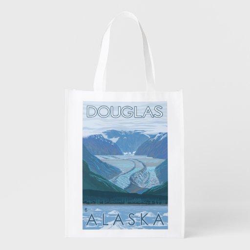 Cena da geleira - Douglas, Alaska Sacolas Ecológicas