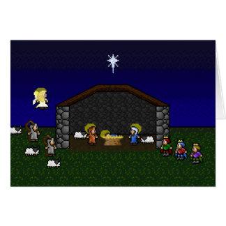 cena de 16 bits da natividade do RPG Cartão Comemorativo