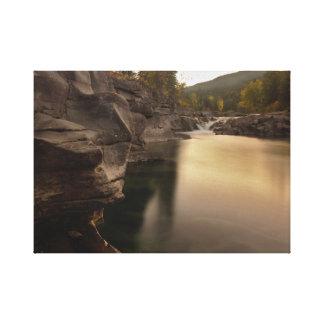 Cena de Fall River em canvas