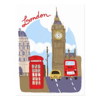 Cena de Londres Cartão Postal