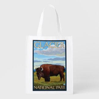 Cena do bisonte - parque nacional de geleira, TA Sacolas Ecológicas