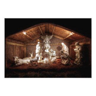 Cena do comedoiro da natividade de Jesus do bebê Impressão De Foto