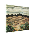 Cena do deserto por Marsden Hartley, paisagem do v Impressão De Canvas Envolvida