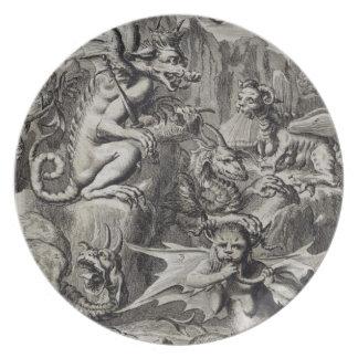 Cena do inferno, ilustração da peça 3 Cha do livro Louça De Jantar