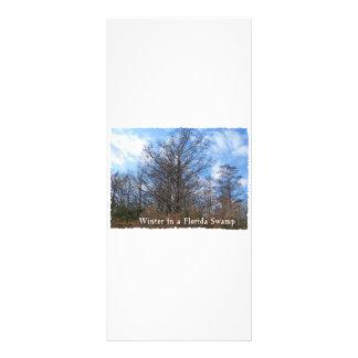 Cena do inverno do pântano de Florida Cypress 10.16 X 22.86cm Panfleto