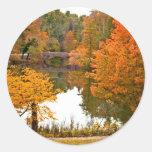 Cena do outono adesivos em formato redondos
