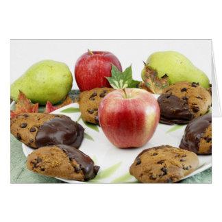 Cena do outono dos biscoitos da abóbora cartão comemorativo