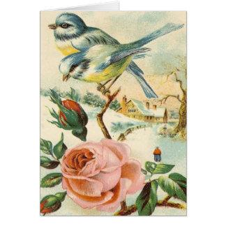 Cena do país do vintage todo o cartão das ocasiões