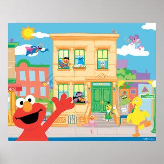 Cena do Sesame Street de Elmo Poster