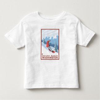 Cena do Snowboarder - padeiro da montagem, Camiseta Infantil